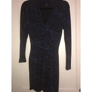 Sparkle deep v stretchy TopShop dress